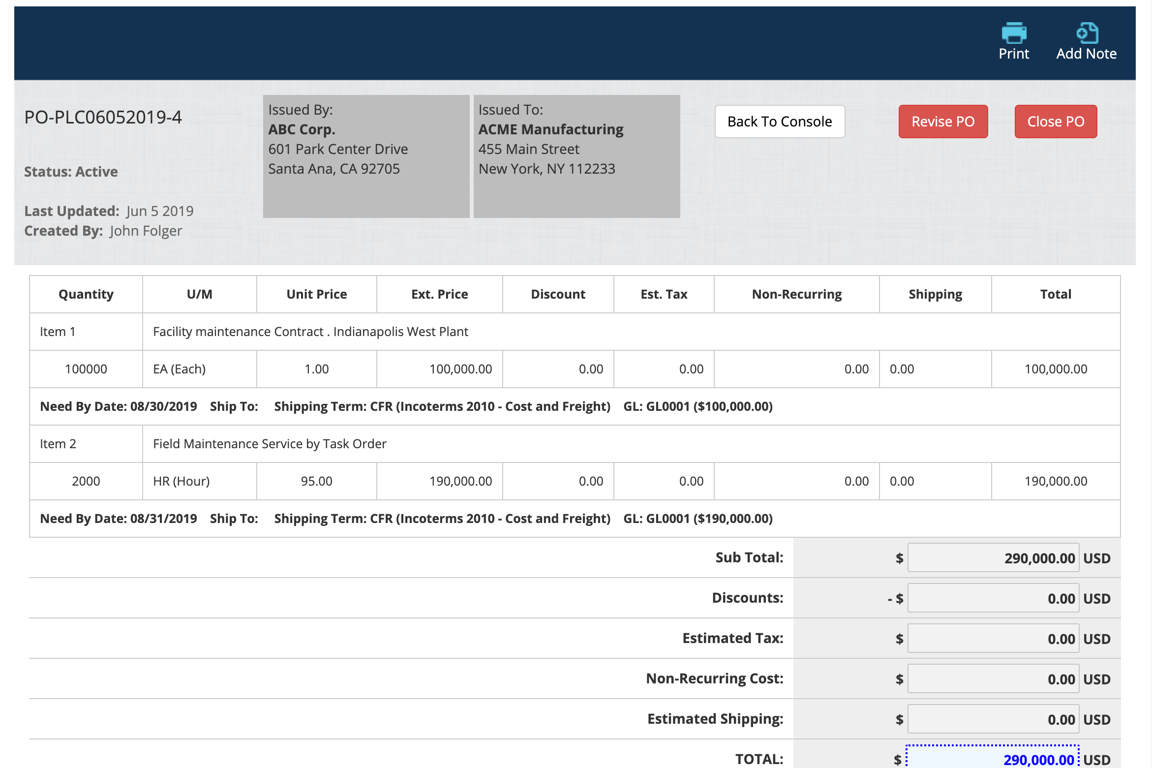 Purchase Orders App Software